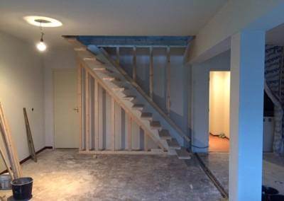Bouwbedrijf Schippers Maken van trap sparing En plaatsen van een zwevende trap van bamboe_9